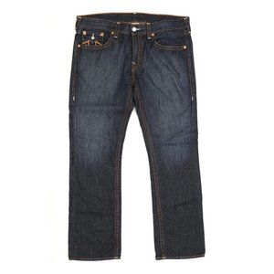 True Religion Straight Fit Jeans Flaps 38 X 34